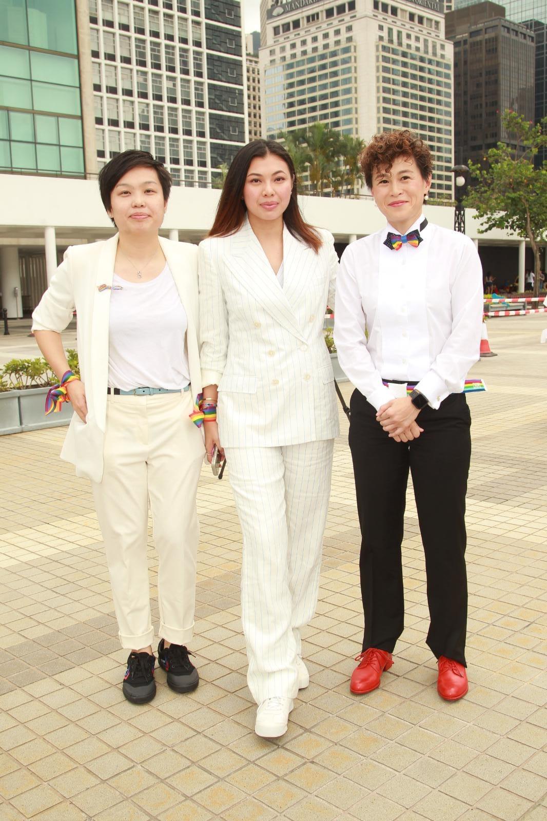 趙式芝及王曼喜出席《同慶同婚》行動活動,為慶祝台灣同志婚姻合法化。