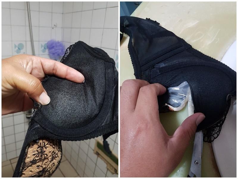 台男怒斥妻子内衣藏油包。爆怨公社facebook