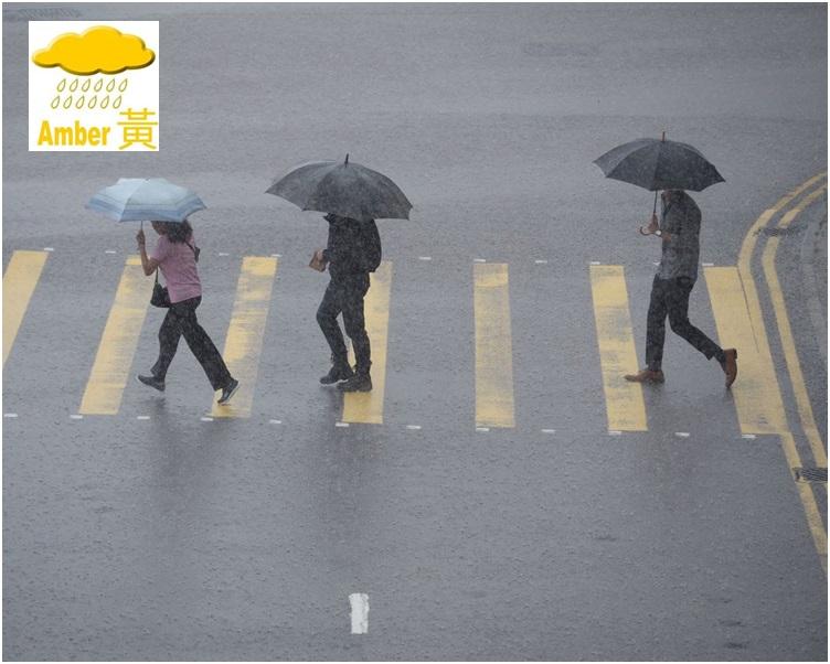 香港廣泛地區已錄得或預料會有每小時雨量超過30毫米的大雨。