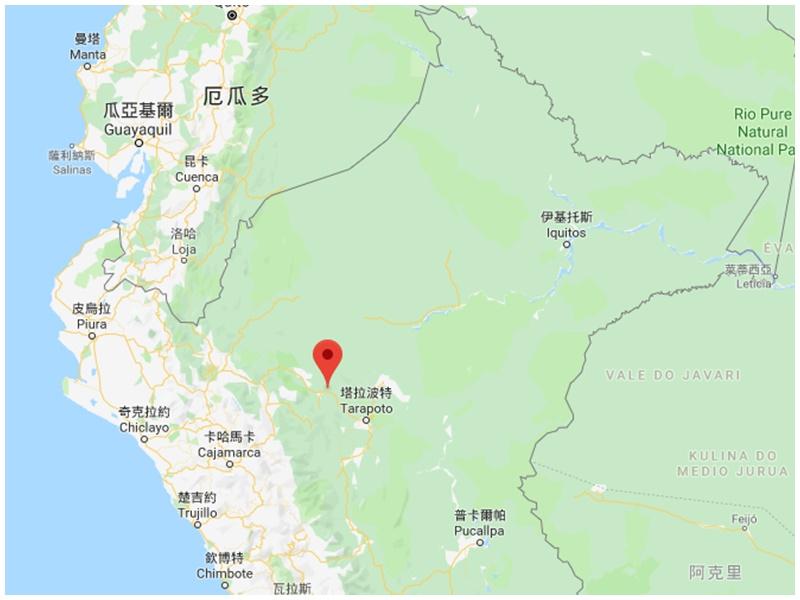 地震在当地莫约班巴省发生。网图