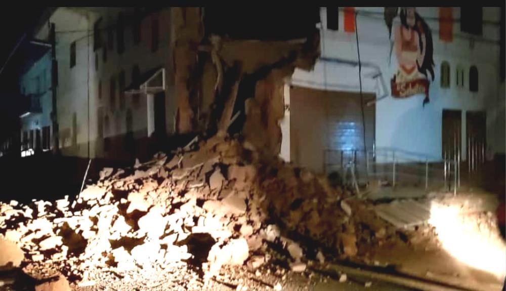 秘鲁北部发生8级强烈地震有建筑倒塌。网上图片
