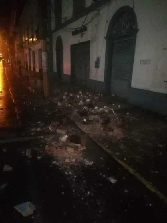 秘鲁北部有建筑损毁。网上图片