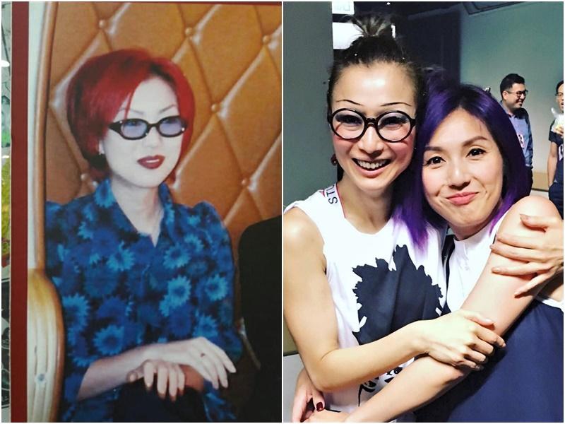 有網民貼出一張女歌手舊照(左),讓大家猜是鄭秀文抑或楊千嬅。