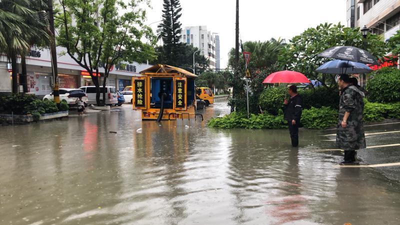 珠海多個路段水浸。網上圖片