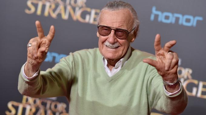 有「Marvel之父」称号的Stan Lee。图片