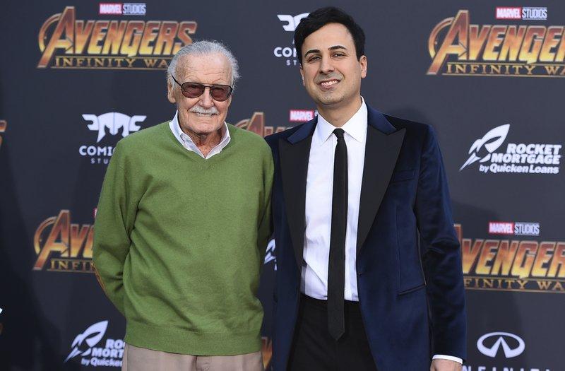 有「Marvel之父」称号的Stan Lee与生前经理人Keya Morgan。图片