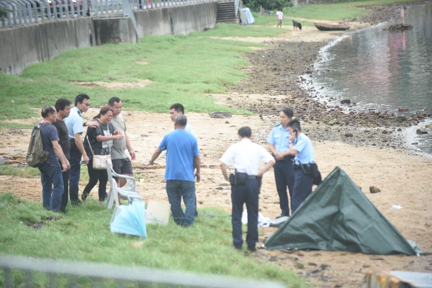 27歲仔大埔夜潛捉蟹遇溺失蹤,今日下午尋回屍體。