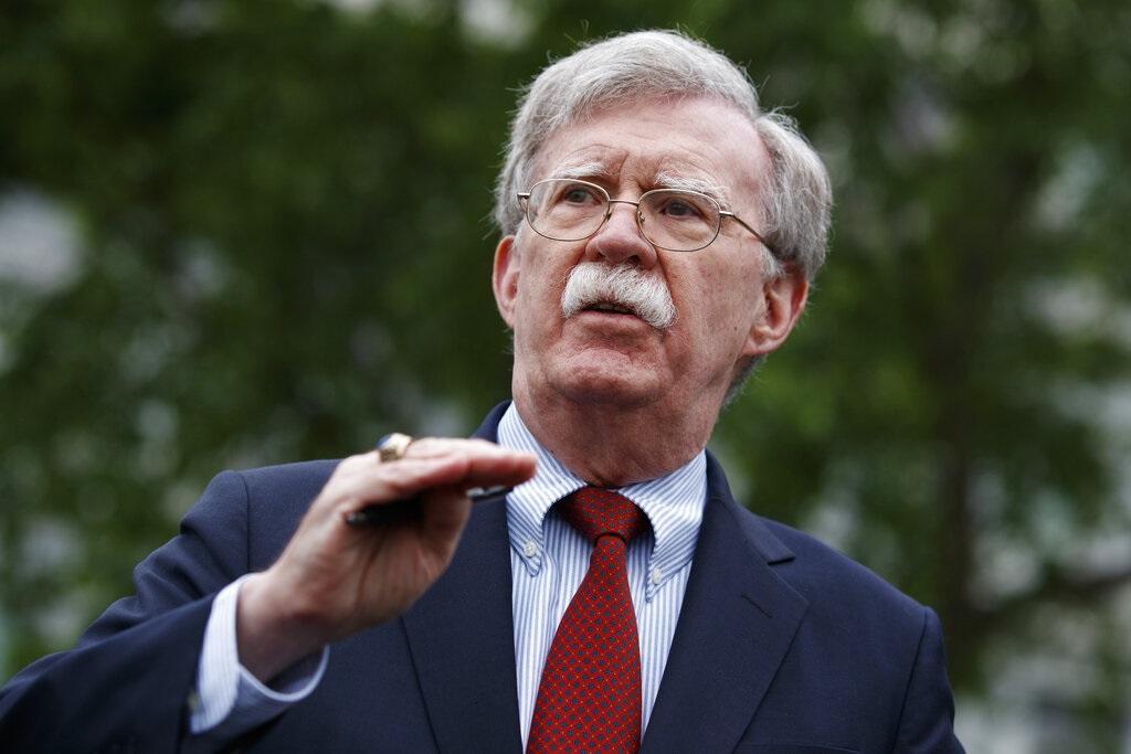 美國國家安全顧問博爾頓。AP圖片