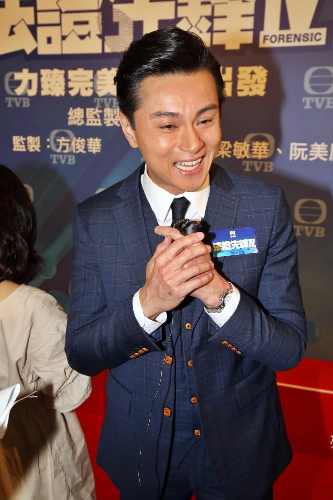 黃浩然表示最擔心付出努力的劇集不出街,慶幸公司重拍。