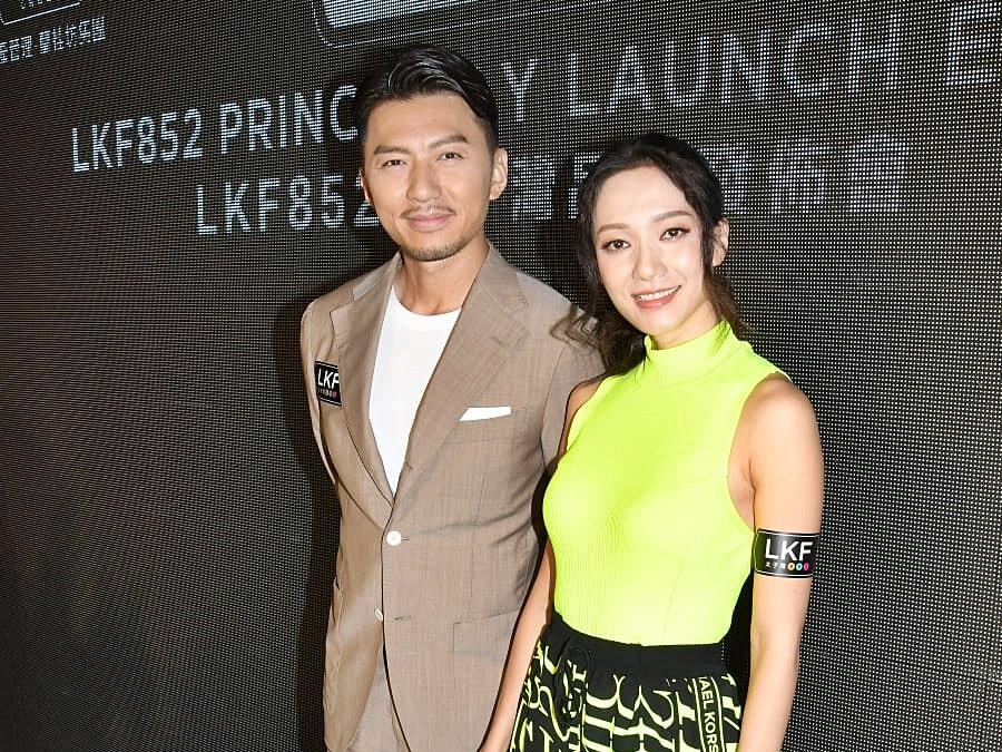 袁偉豪和王君馨拍檔出席活動。