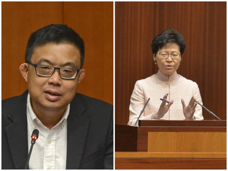 涂謹申(左)對林鄭月娥拒絕出席辯論感到遺憾。資料圖片