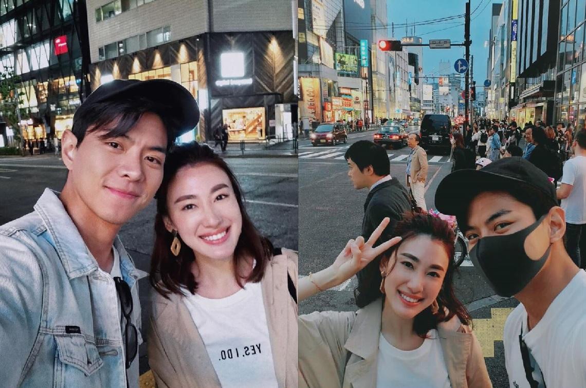 「馬子仁」羅天宇和「馬子妮」蔣家旻近日在日本重聚。蔣家旻IG