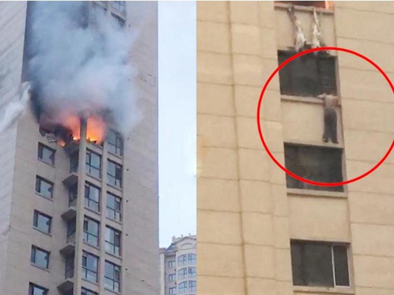 黑龍江哈爾濱市民生尚都一個16樓的單位,因煤氣爆炸發生火災,造成兩人死亡。(網圖)