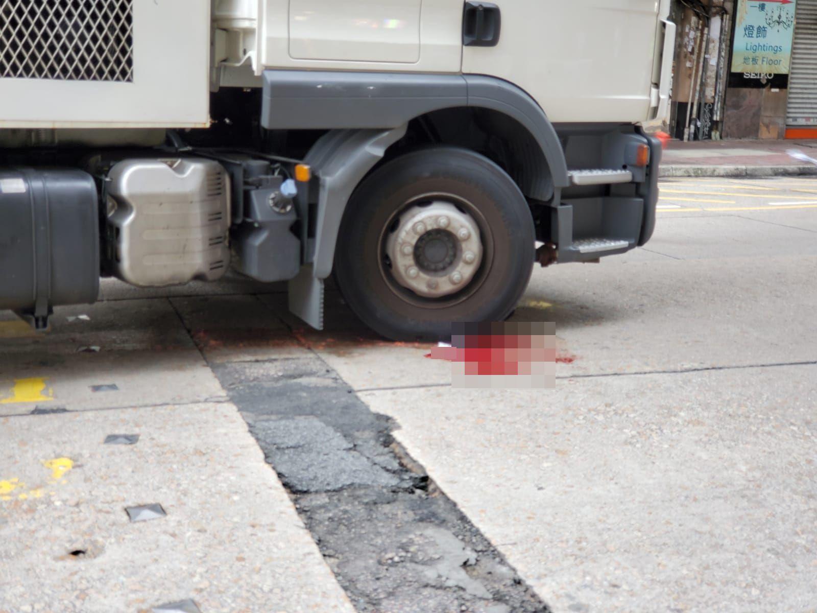涉事洗街車。
