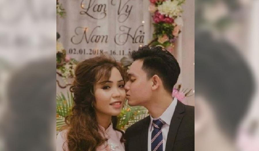越南男警怀疑妻子出轨。网上图片