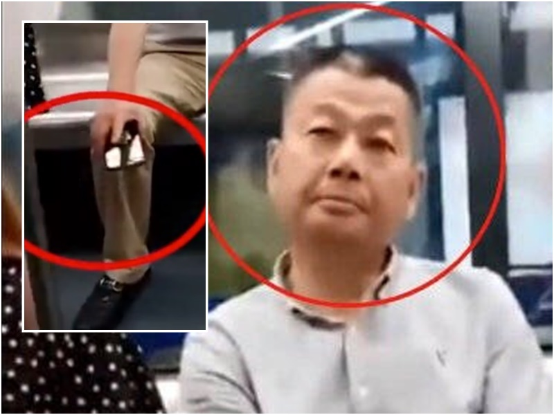 男子地鐵偷拍裙底遭開除。網上圖片