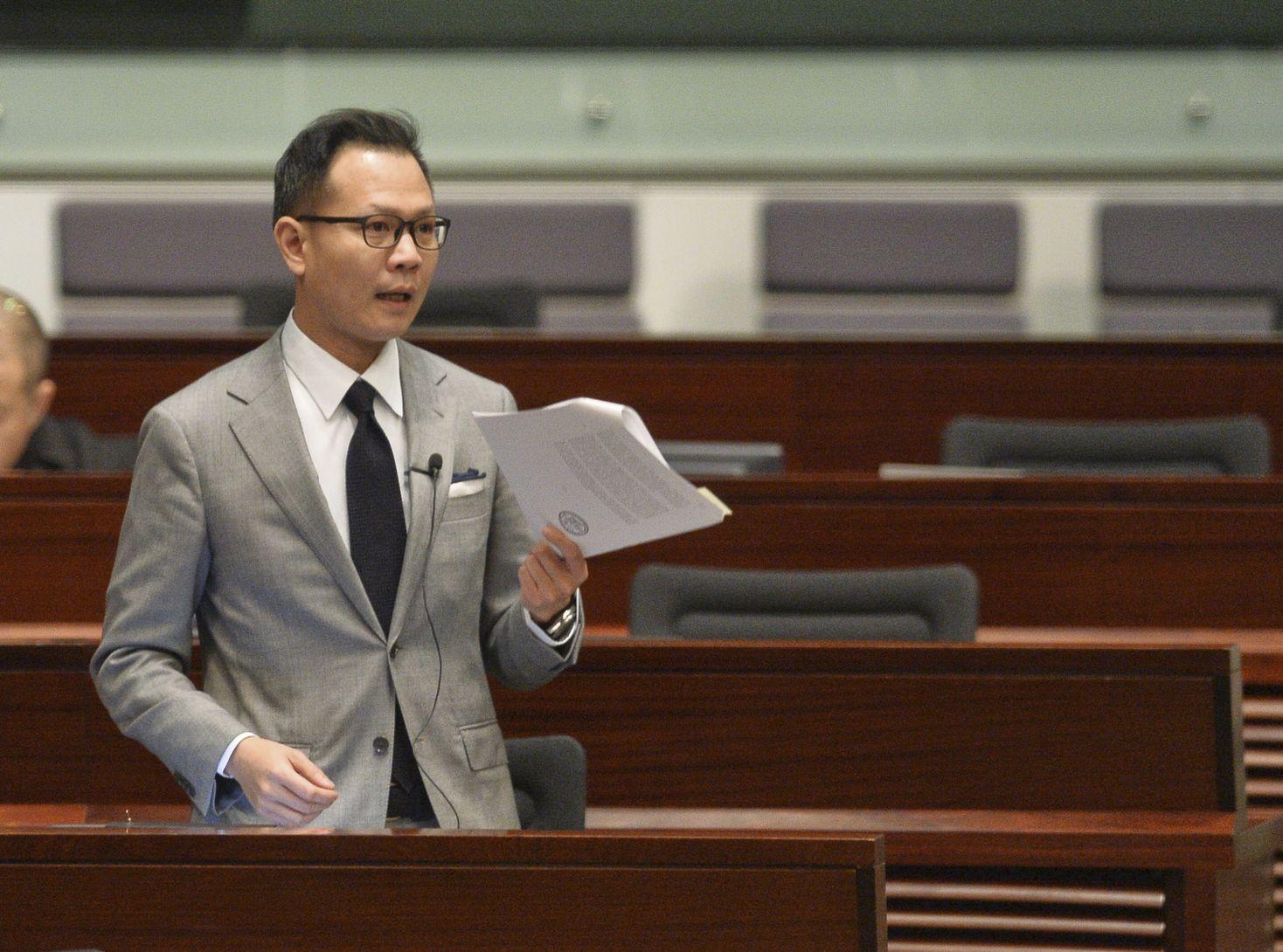 郭榮鏗指,法律界將於下月6日舉辦黑衣遊行。資料圖片