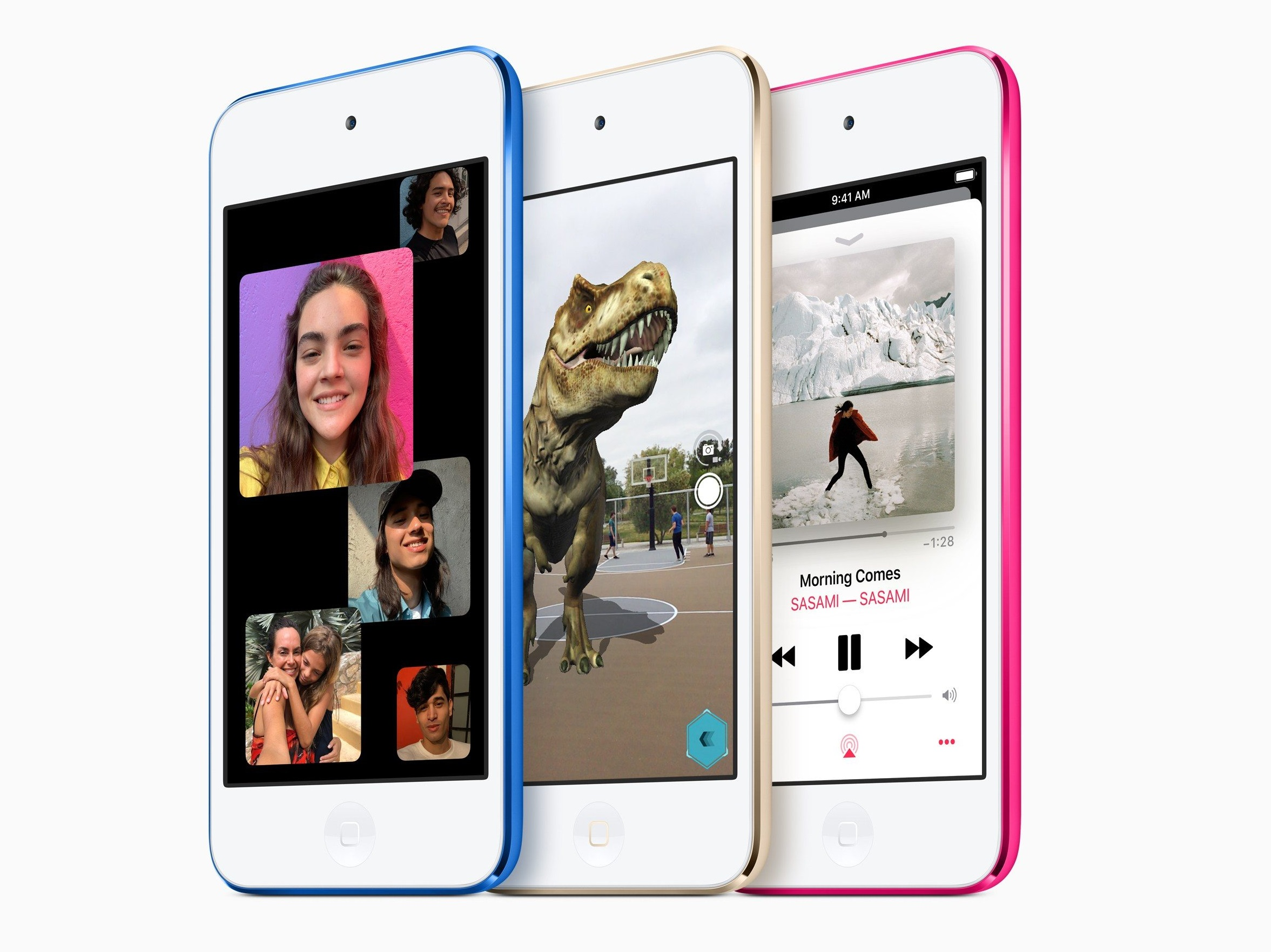 苹果相隔4年突推全新iPod touch。网上图片