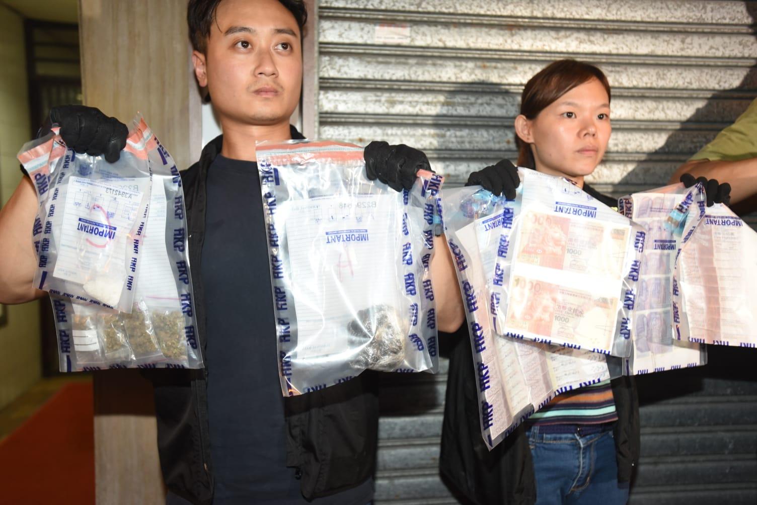警方检获43张怀疑伪製纸币。