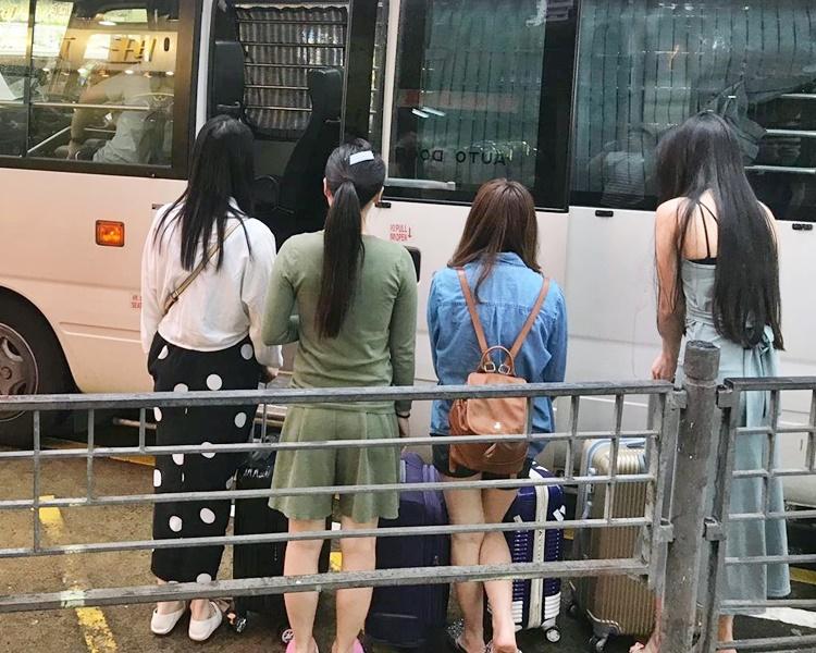部分被捕人士。
