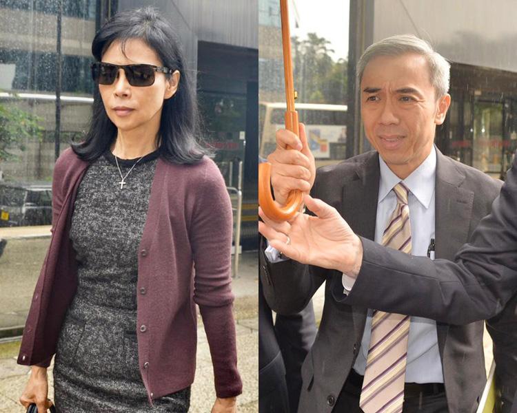 被告陳婉玉(左)及馮永業(右)。