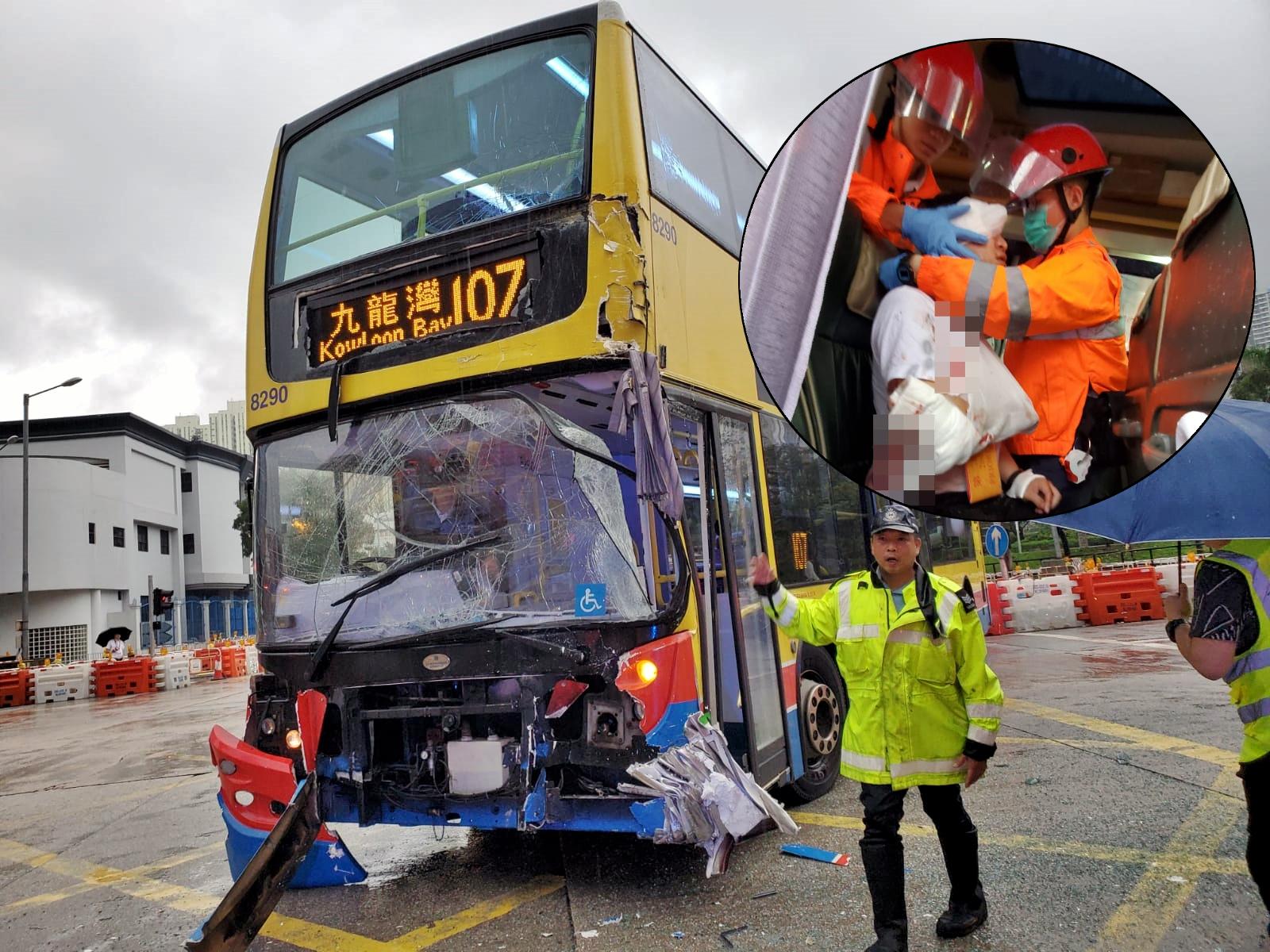 事故造成多人受傷。蔡楚輝攝