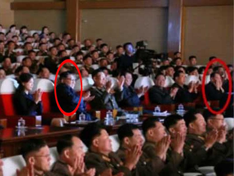 公开的相关图片中,金英哲坐在金正恩左侧第五个座位上。