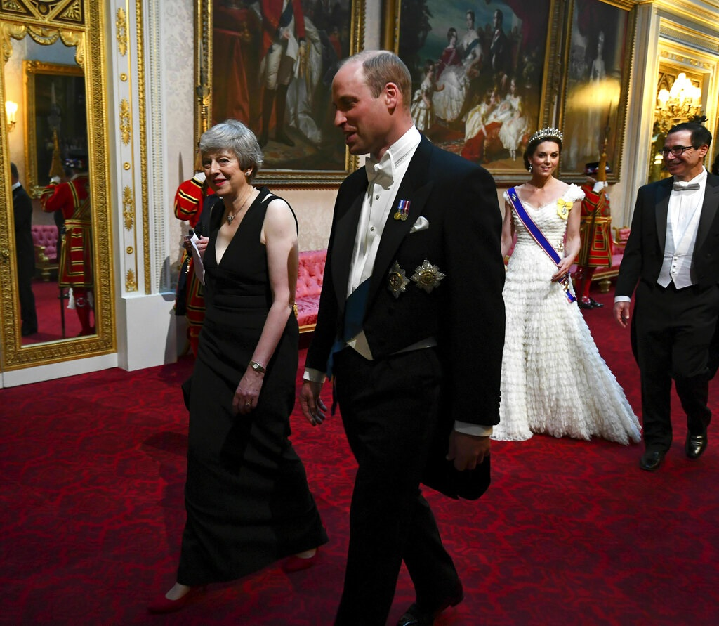 文翠珊与威廉王子等宾客出席国宴。图片