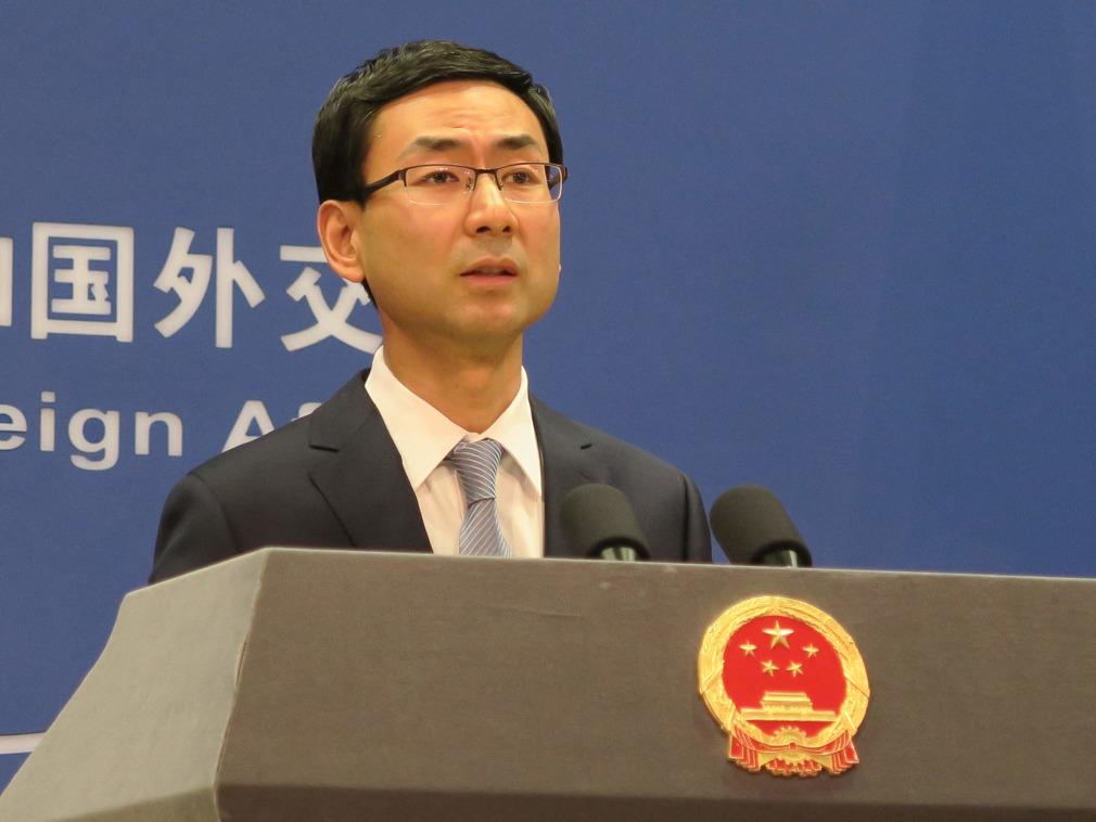 外交部發言人耿爽。新華社圖片