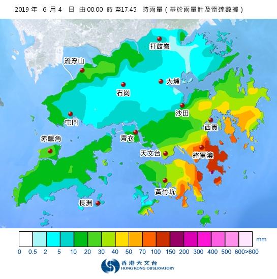 天文台指凌晨新界西北都有降雨,所以雨云并不是只影响香港东部。天文台雨量图