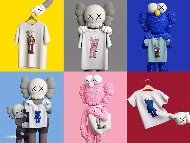 UNIQLO優衣庫及KAWS聯名款T恤推出。網上圖片
