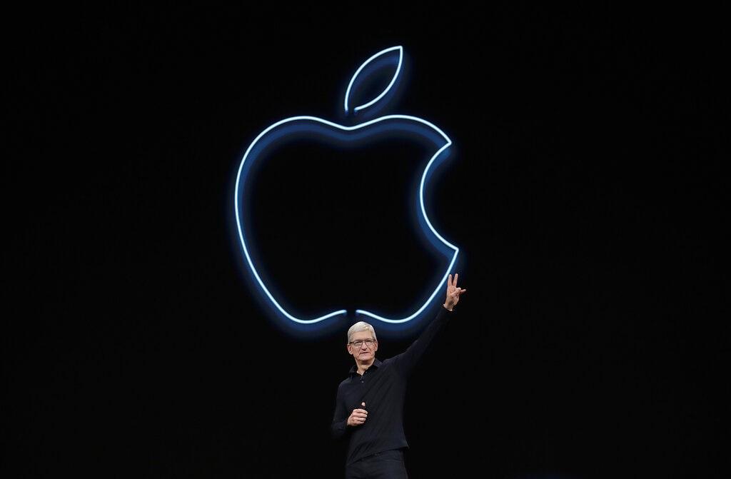 蘋果行政總裁庫克主持全球開發者大會。AP