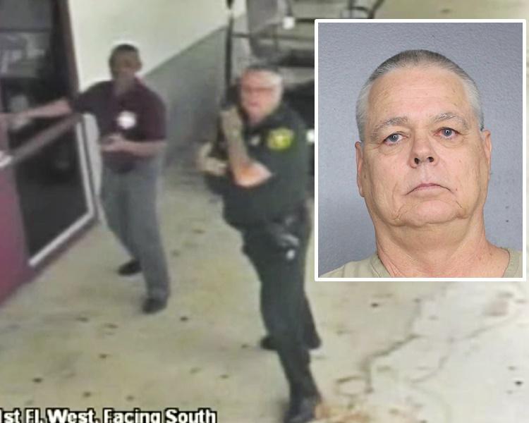 现场拍摄到的片段显示他没有进入传出枪声大楼内。/网图