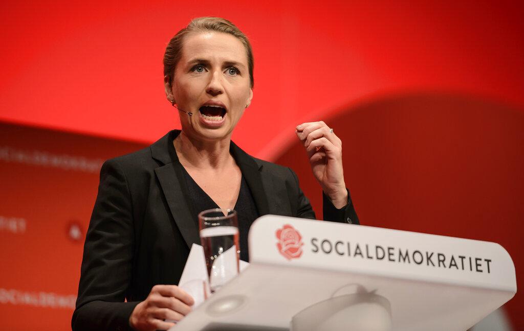 丹麦社民党女党魁弗雷德里克森。 AP图片