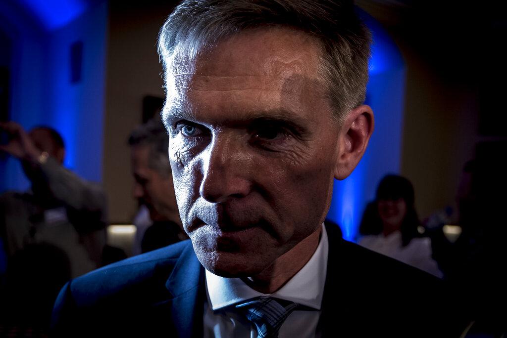 丹麦人民党领袖图勒森。 AP图片