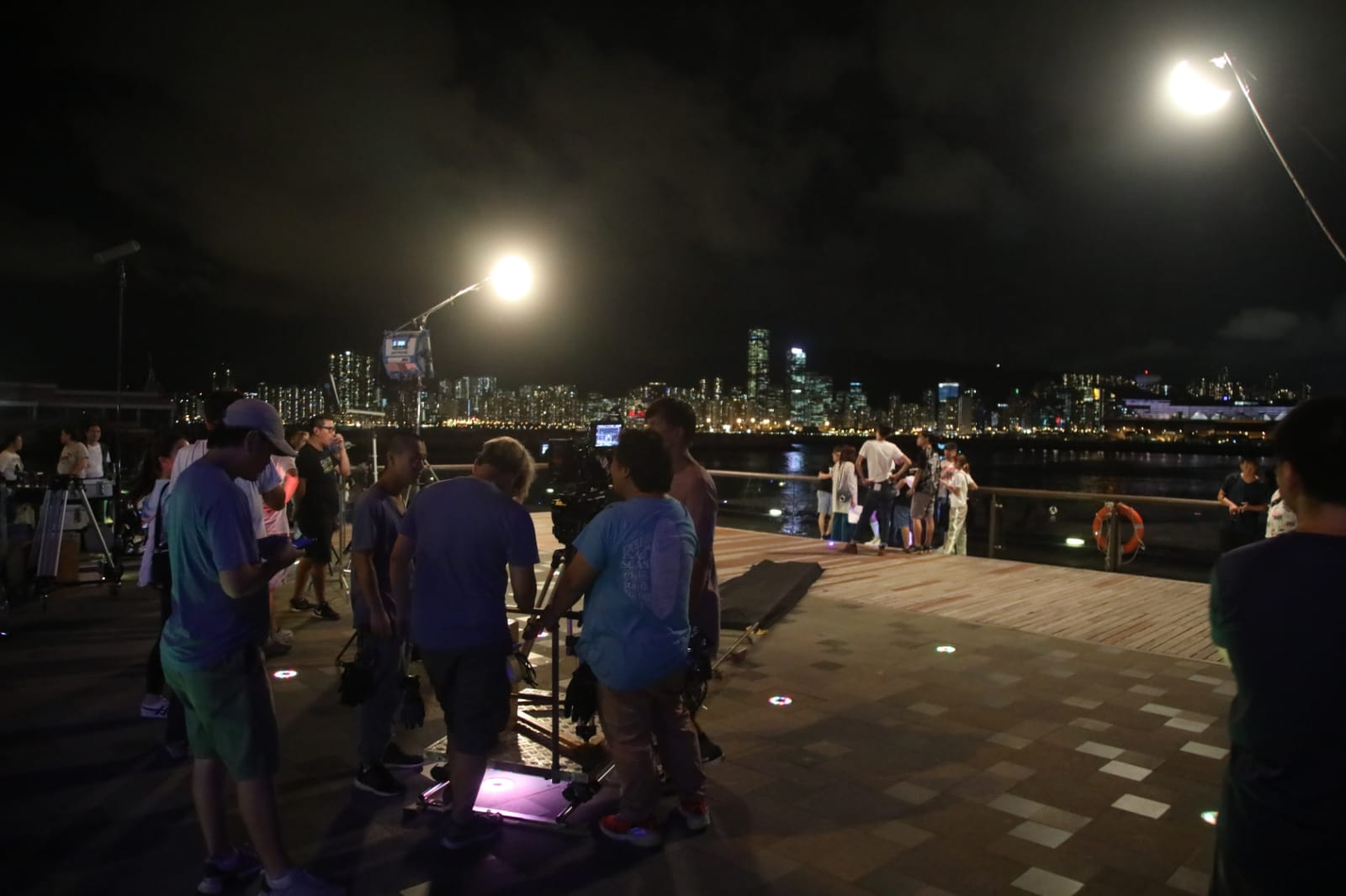 無綫新劇《法證先鋒IV》於觀塘海濱花園拍攝