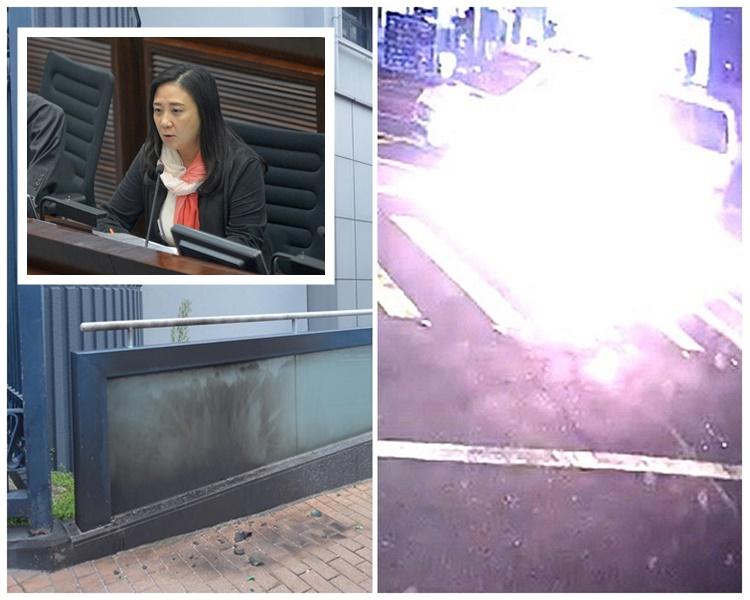 葛珮帆批评汽油弹袭警是公然挑衅香港法治社会。资料图片