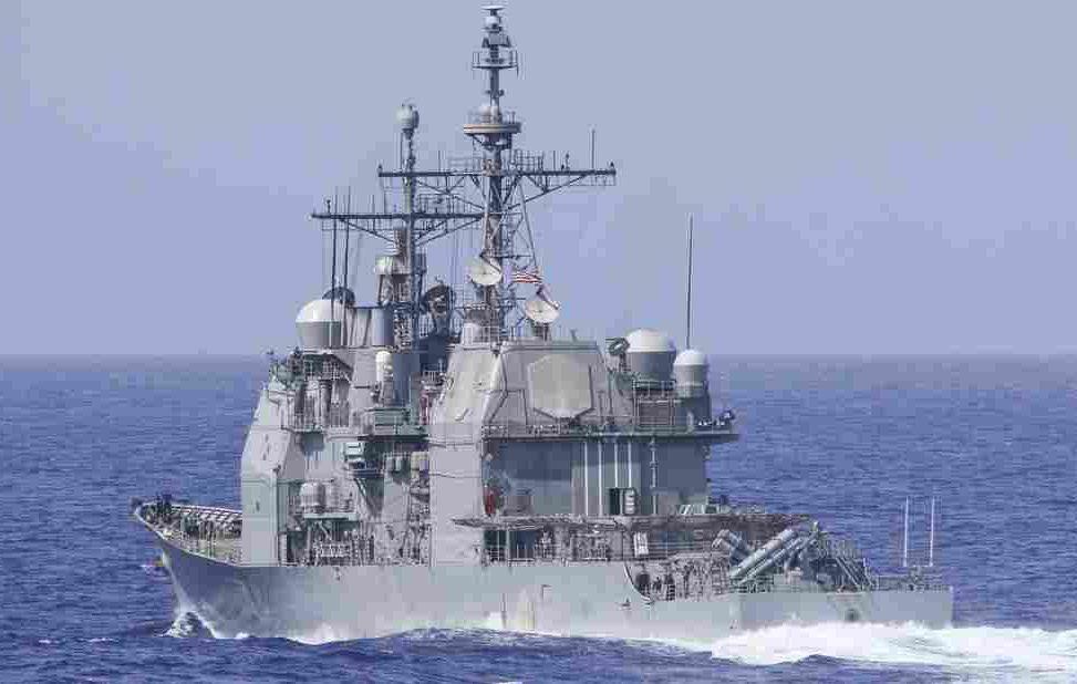 美軍導彈巡洋艦。