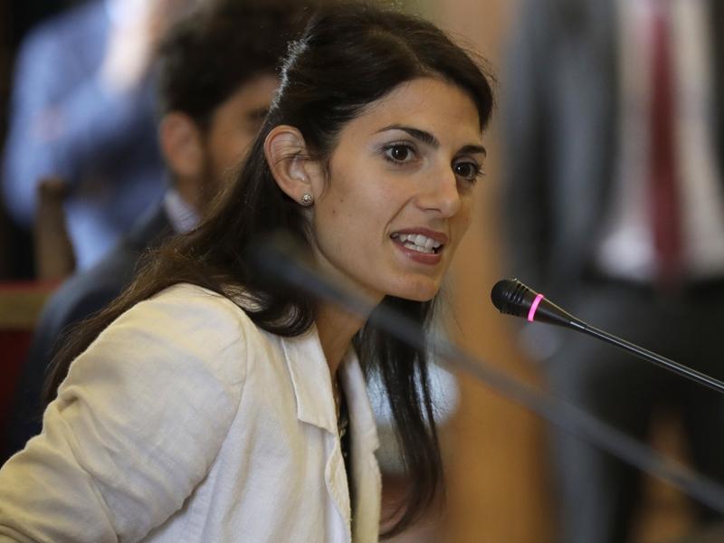 意大利首都羅馬的女市長拉吉。 AP圖片