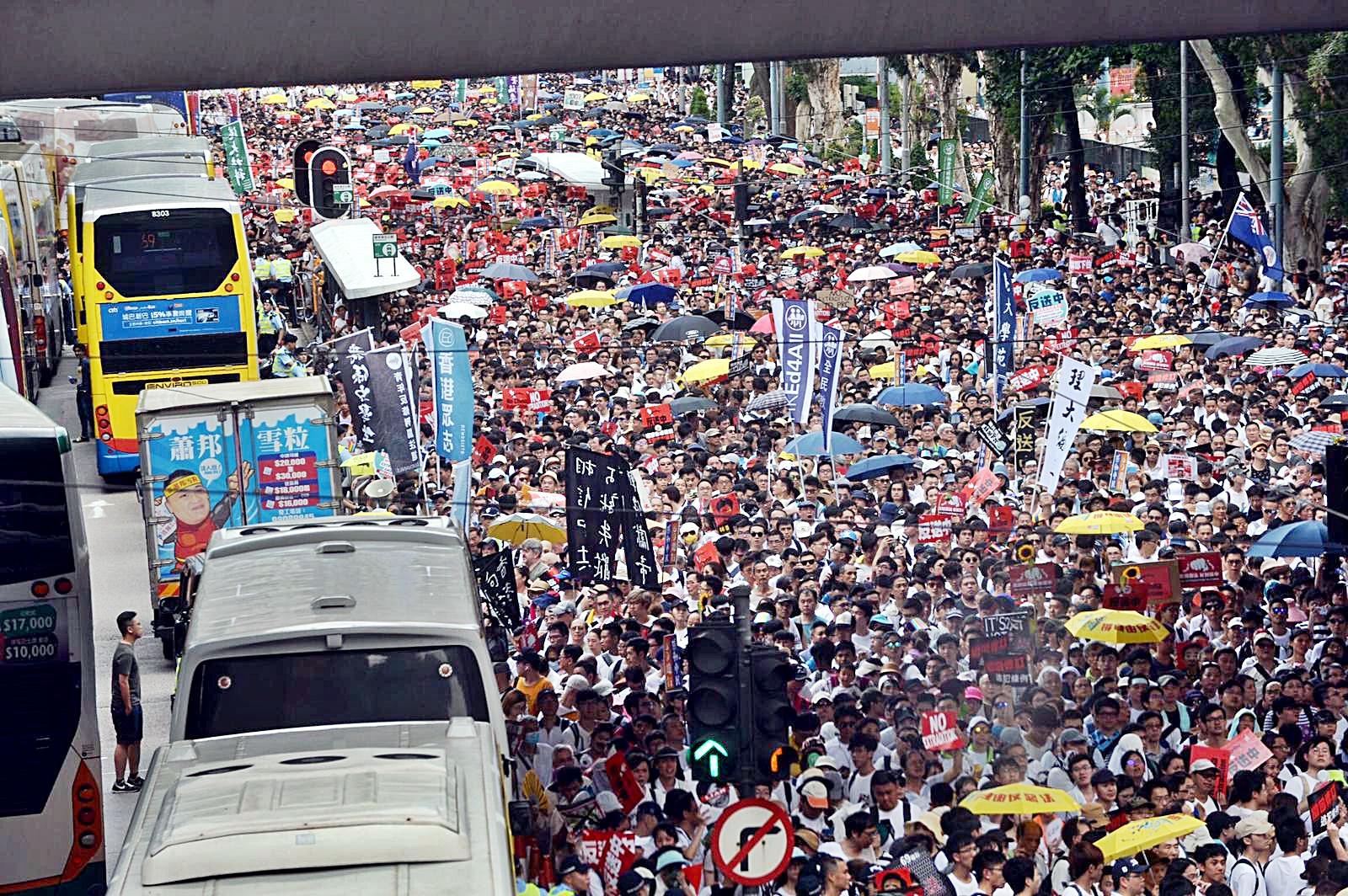 民陣指警方初步估計遊行人數為30萬人,不過警方澄清傳言是虛構。
