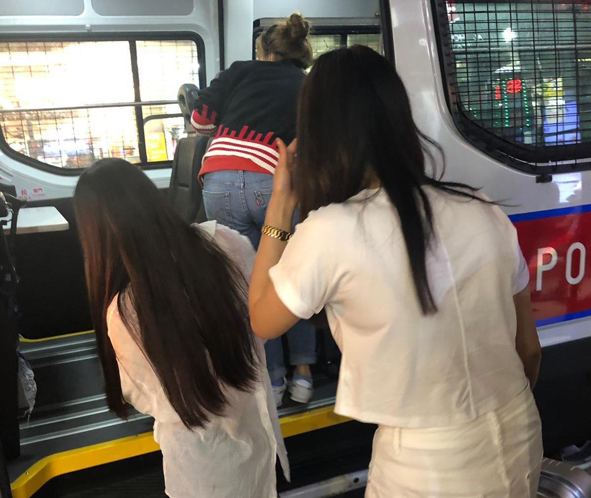 被捕女子現正被扣留調查。 警方提供