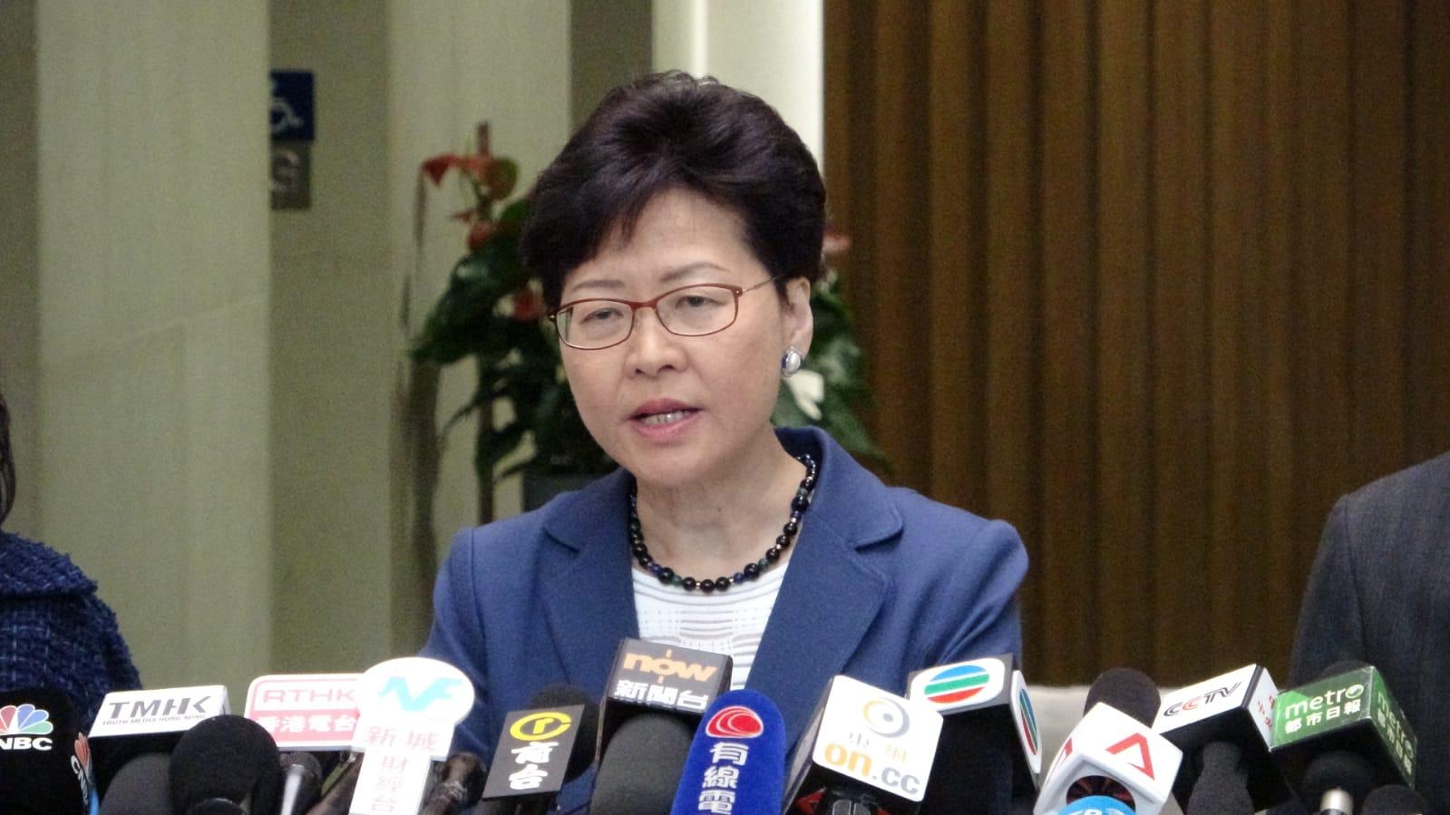 林郑月娥深信昨日参与游行的人士,大部分都是热爱香港。