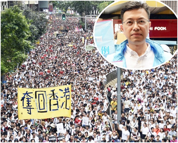 吳秋北(小圖)批評反對派有前科,「每次遊行數字都作大好多」。