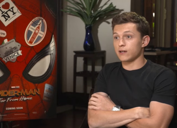 湯姆賀倫非常鬼馬,不肯說對方是自己喜歡的演員。影片截圖