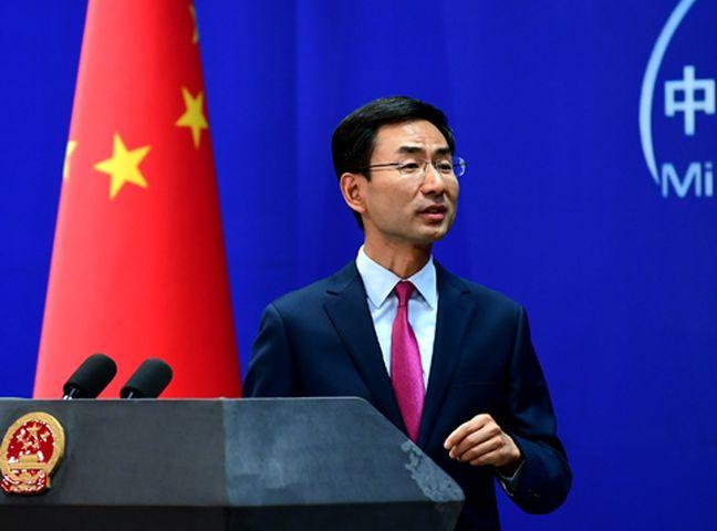 耿爽又重申,中方不想打貿易戰,但亦不怕打貿易戰。外交部網頁圖片