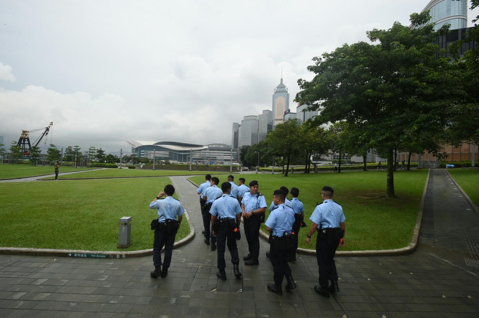 警方加強保安。
