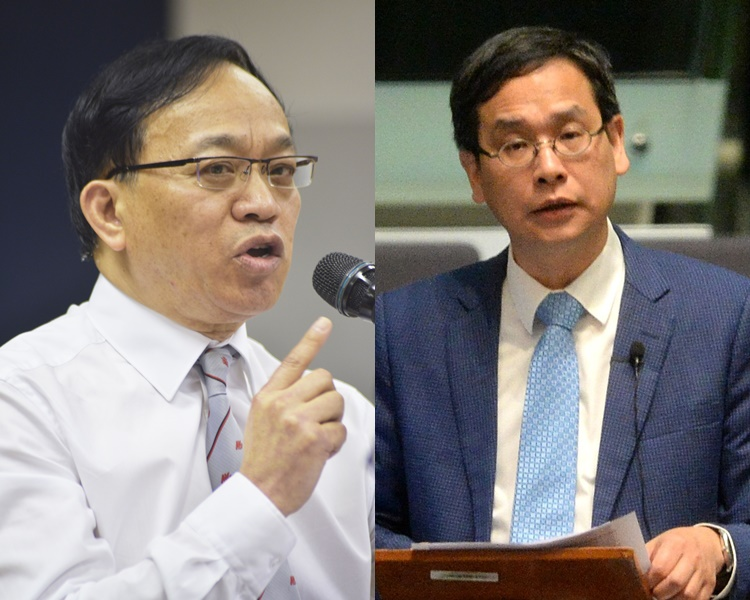 黃謂儒(左)及葉建源(右)都希望希望年青人可用和平方法爭取。