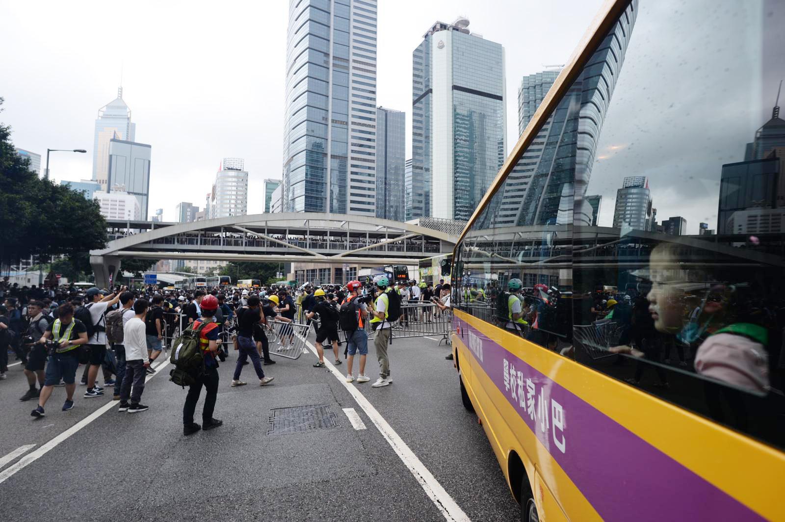 因應反對修訂《逃犯條例》的示威活動,影響鄰近地區的交通。