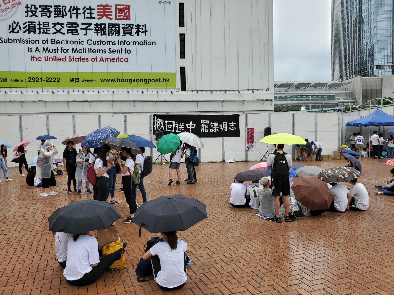 教協宣布,因應今日最新發展,取消原訂今午公布「全港教師罷課」詳情的記者會。