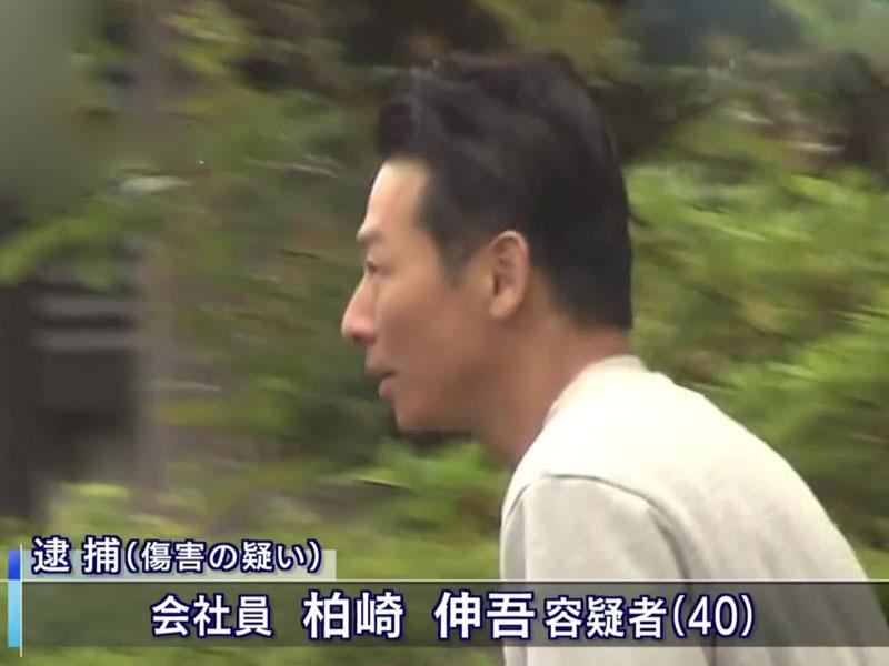 40歲的柏崎伸吾涉嫌推人落月台,還用腳踢對方的臉。(網圖)